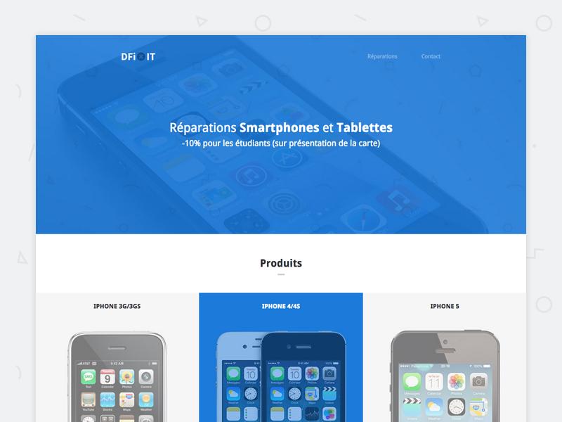 Dfixit - Website is live ios apple smartphone belgium flat minimalist screw blue fix ipad iphone logo