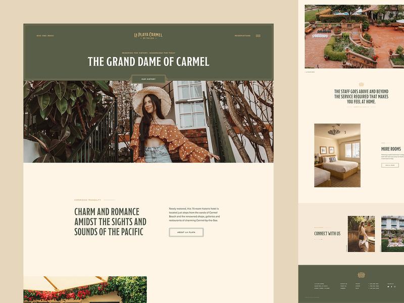 La Playa Carmel website webdesign uiux ui motion hotel design