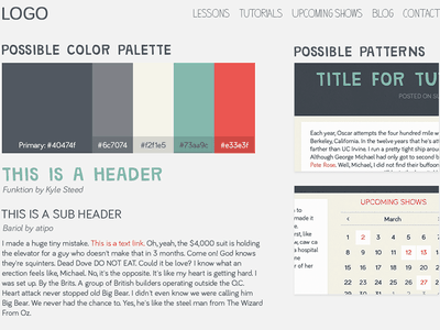 DB Style Guide style guide rwd mockup bariol funtion