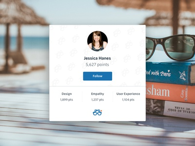 Degreed profile widget