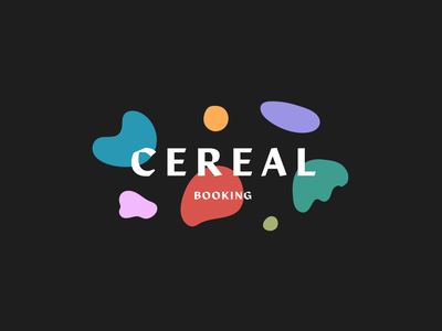 Branding/Logo for Cereal Booking Agency music agent booking artist music agency minimal shapes cereal abstract typography type branding agency music booking agency logo design idendity design identity logo branding design branding