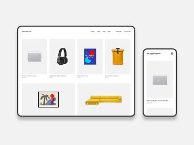 The Design Shop - Website Update simple minimalist minimalistic grid homepage web minimal store ecommerce design ecommerce shop ecommerce web shop webshop shop design shop webdesign web store minimal website web design minimal design