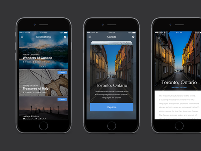 FIVE: UI Kit ui kit ui design application ios ios app ui user interface travel app travel destinations digital digital design