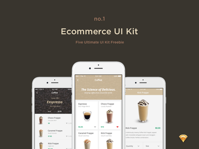 Ecommerce UI Kit - Freebie ui kit ui ui design ios ui ios user interface app design application ui kit free mobile app sketch freebie