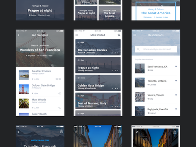 Travel UI Kit (Freebie) ui kit ui ui design ios ui ios user interface app design application ui kit free mobile app sketch freebie