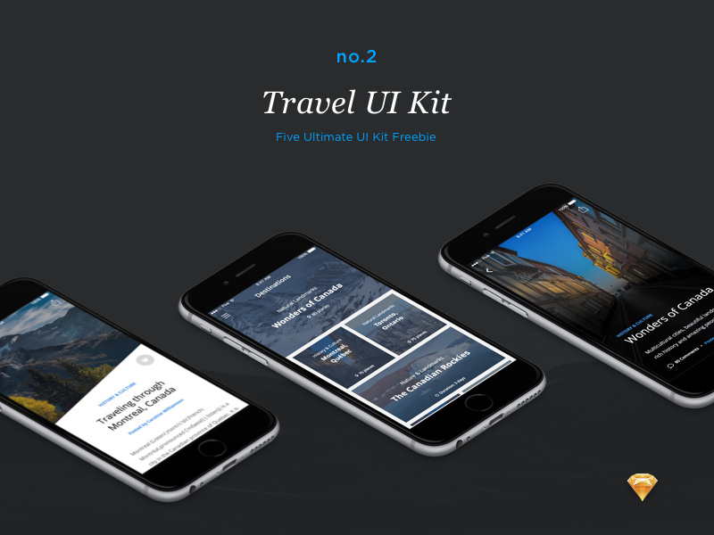 Travel UI Kit (Freebie) ui kit ui ui design ios ui ios user interface app design application ui kit free mobile app sketch freebie