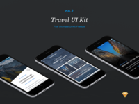 Travel UI Kit (Freebie)