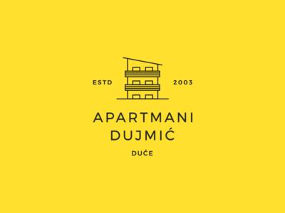 Dujmic Apartments Logo minimal design minimal hotel logo apartments hotel accommodation illustration identity logo design logo branding