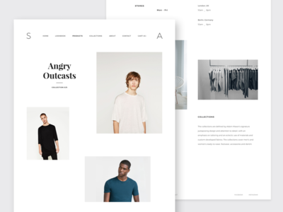 Minimal Creative / Fashion Store Template minimal template ecommerce fashion store minimal store minimal web theme shop template web shop store template website store