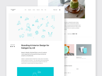 New The Design Blog - Article Page Layout minimal web design blog blog post typography minimal web website web design article layout article blog blog design