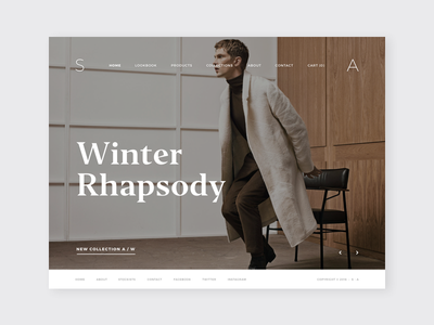 Minimal Creative / Fashion Store Template web shop minimal design ui website design web store shop design shop ecommerce website web design minimal