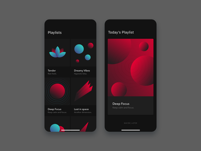 MoodTunes UI minimal ui design dark mode playlists music app ui ux design ui ux minimal design user interface ui