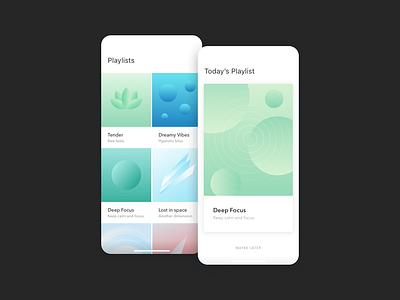 MoodTunes Light UI light mode playlists music app ui ux design ui ux ui design minimal design ui user interface minimal
