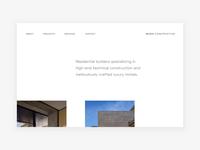 Luxury Construction Co - website concept