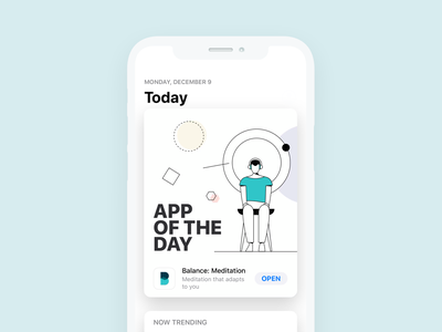 Balance: Apple's App of the Day minimal design app design ios mobile product design app illustration minimal meditationapp meditation mobile app mobile design iosapp uidesigner uxdesign uiux appdesign uidesign user interface ui