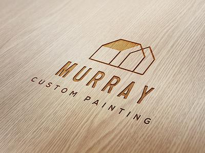 Murray Custom Painting Logo Design brand identity branding design branding logo
