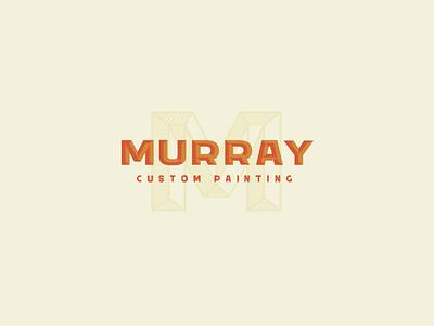 Murray Custom Painting Logo Concept logotype branding concept branding and identity brand design branding logo