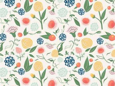 Floral Pattern Design hand drawn flowers floral surface pattern surface design print pattern