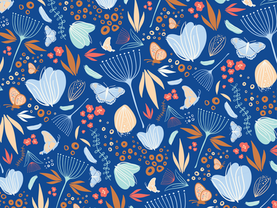 Floralfly Surface Pattern Design surface design print pattern surface pattern design