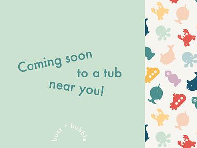 Baby Bath Experience Company Concept pattern design headline branding