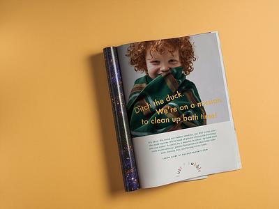 Print Ad Concept Baby Bath Company branding design print ad advertising branding