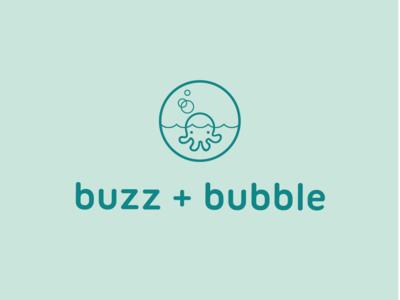 Buzz + Bubble Logo Concept