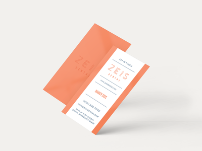 Zeis Dental Business Cards