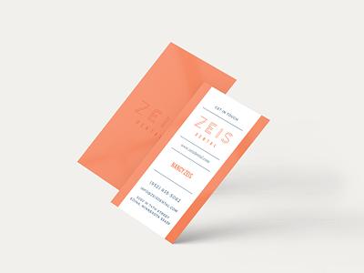 Zeis Dental Business Cards spot gloss business card design business card logo