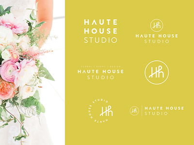 Haute House Studio Logo Suite logo suite monograms icons logos rebrand branding logo