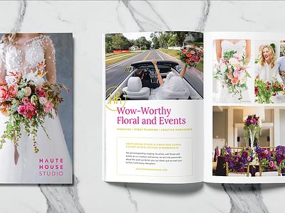 Haute House Studio Look Book press kit marketing materials marketing rebrand branding layout magazine lookbook