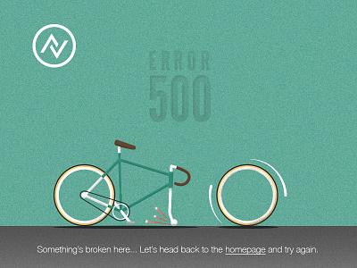 Error 500 Bicycle error 500 error page vintage graphic bicycle web illustration design