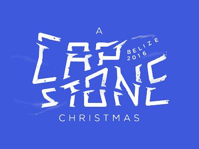 CapStone Christmas pirate wet type texture weather christmas typography