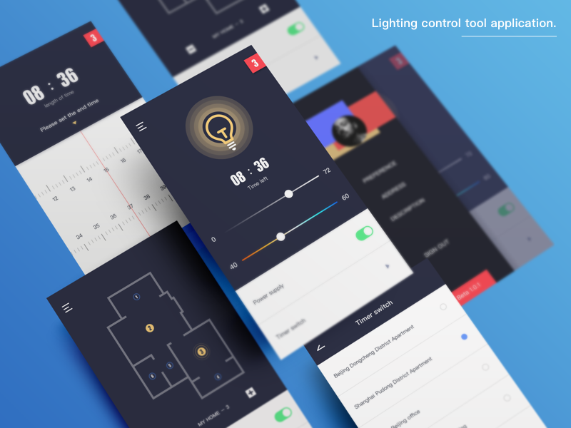 Smartphone Lighting Control Intended Light Control By Tian Dribbble