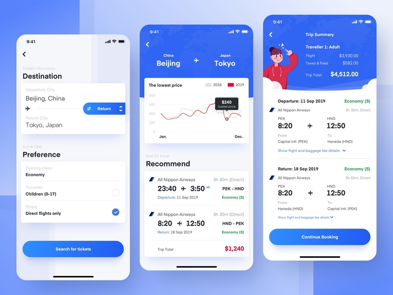 Ticket recommendation ticket data ui iphone app sketch