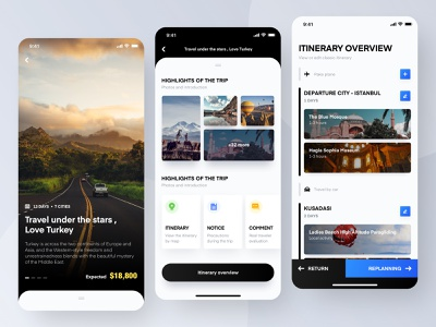 Itinerary editing design ui iphone ios app