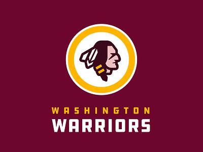 Washington Warriors native american sports logo washington dc redskins football nfl washington