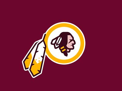 Washington Warriors Logo washington dc washington sports logo redskins nfl native american football