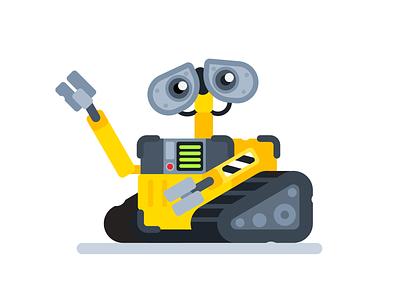 WALL•E robot flat illustration pixar