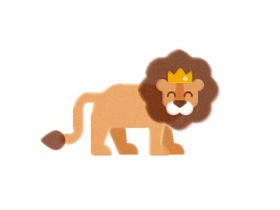 Leo the Lion risograph texture print animal illustration childrens illustration
