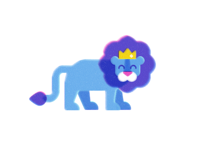 Leo the Lion part 2 risograph texture print animal illustration childrens illustration