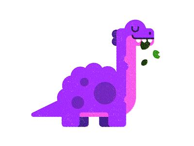 Dino  (2 of 4) animal texture print childrens art dinosaur flatillustration illustration