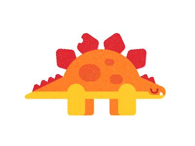 Dino  (3 of 4) animal texture print childrens art dinosaur flatillustration illustration