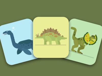 Tiny Dinos dinosaurs ios illustrations flashcards tinycards duolingo app