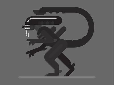 xenomorph scifi horror movie monster creature flat alien