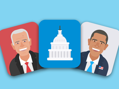 Tiny Politicians illustration character united states politicians flashcards