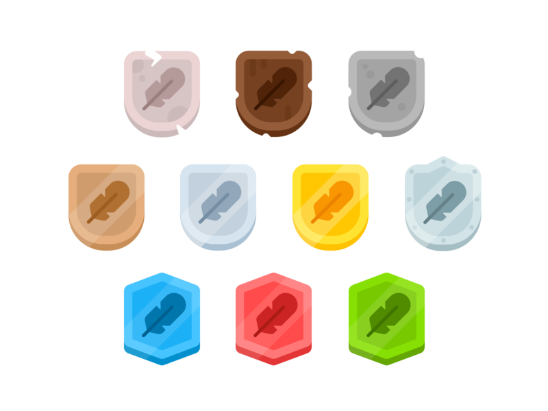 Duolingo Leaderboard League Badges juicy badges illustration duolingo