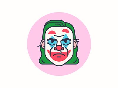 Put on a happy face character illustration batman dc comics joker