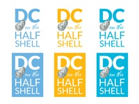 DC on the Half Shell Identity logo event branding design
