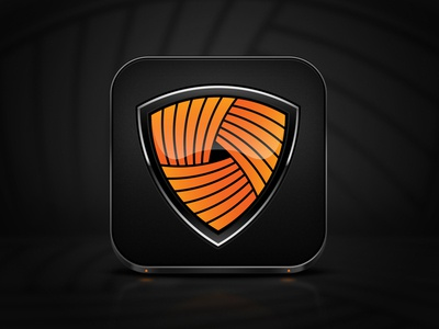 Shield iOS Icon. See 2x for detail