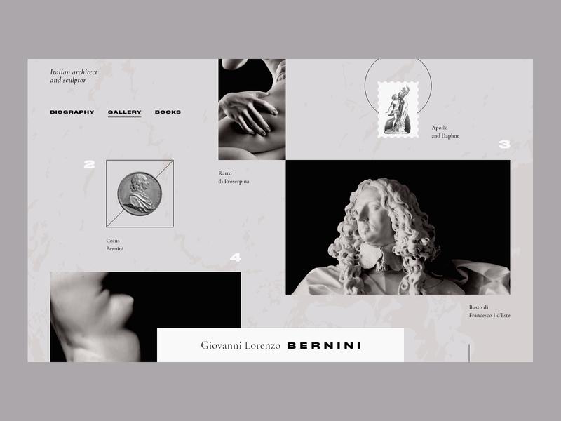 Giovanni Lorenzo Bernini clean concept black architecture adobexd web